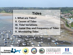 I. What are Tides?