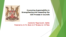 Promoting Sustainability in Strengthening and Cascading the PowerPoint PPT Presentation