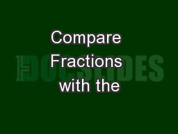 Compare Fractions with the