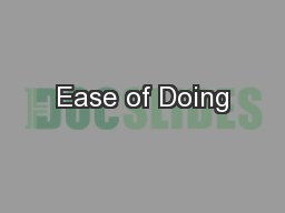 Ease of Doing