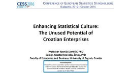 Enhancing Statistical Culture: PowerPoint PPT Presentation