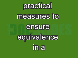 Strategic and practical measures to ensure equivalence in a PowerPoint PPT Presentation