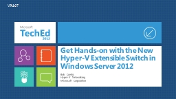 Get Hands-on with the New Hyper-V Extensible Switch in Wind PowerPoint PPT Presentation