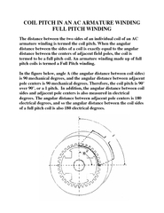 COIL PITCH IN AN AC ARMATURE WINDING FULL PITCH WINDIN