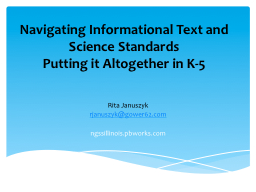 Navigating Informational Text and Science Standards