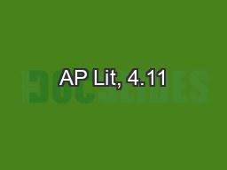 AP Lit, 4.11