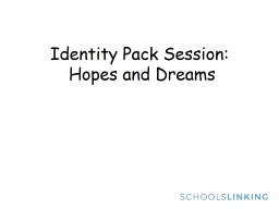 Identity Pack Session: