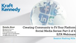 Creating Community to Fit Your Platform