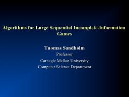 Algorithms for Large