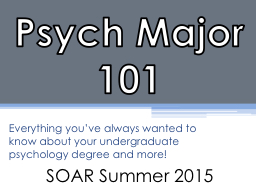 Psych Major