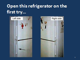 Open this refrigerator on the first try…