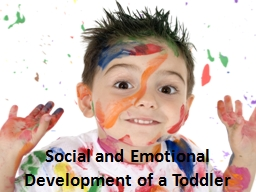 Social and Emotional Development of a Toddler