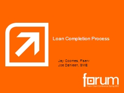 Loan Completion Process PowerPoint PPT Presentation
