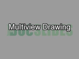 Multiview Drawing