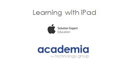 Learning with iPad