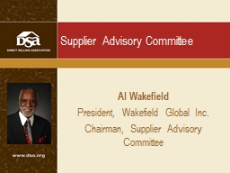 Supplier Advisory Committee