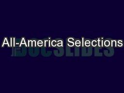 All-America Selections