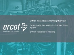 ERCOT Transmission Planning Overview