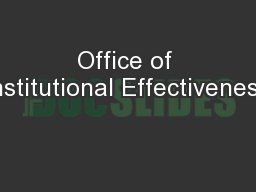 Office of Institutional Effectiveness