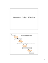 Assemblers Linkers  Loaders Translation Hierarchy  Tra