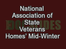 National Association of State Veterans Homes' Mid-Winter