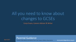 All you need to know about changes to GCSEs