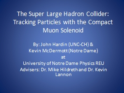 The Super Large Hadron Collider: Tracking Particles with th