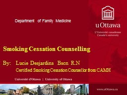 Department of Family Medicine PowerPoint PPT Presentation