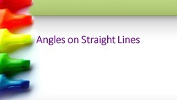 Angles on Straight Lines
