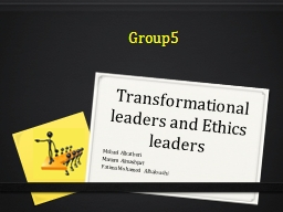 Transformational leaders PowerPoint PPT Presentation