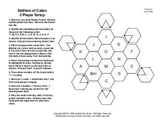 BH Settlers of Catan  Player Setup