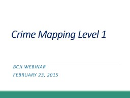 Crime Mapping Level 2