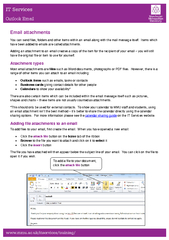 Outlook Email Email attachments You can send files fol