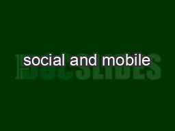 social and mobile