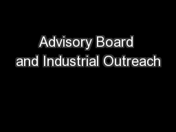 Advisory Board and Industrial Outreach