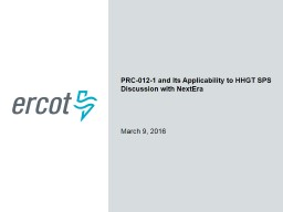 PRC-012-1 and SPSs in ERCOT