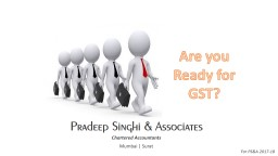 Are you Ready for GST?