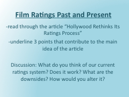 Film Ratings Past and Present