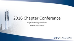 2016 Chapter Conference PowerPoint PPT Presentation