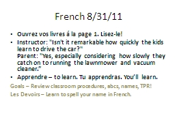 French 8/31/11