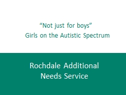 """""""Not just for boys"""""""