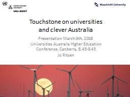 Touchstone on universities PowerPoint PPT Presentation