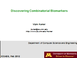 Discovering Combinatorial Biomarkers