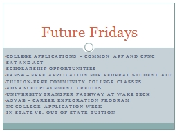 College applications – Common app and