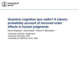 Quantum cognition quo