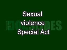 Sexual violence Special Act