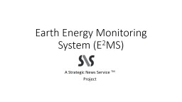 Earth Energy Monitoring System (E