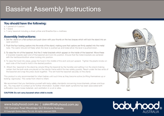 Bassinet Assembly Instructions ww