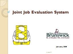 Joint Job Evaluation System