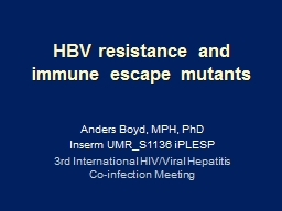 HBV resistance and